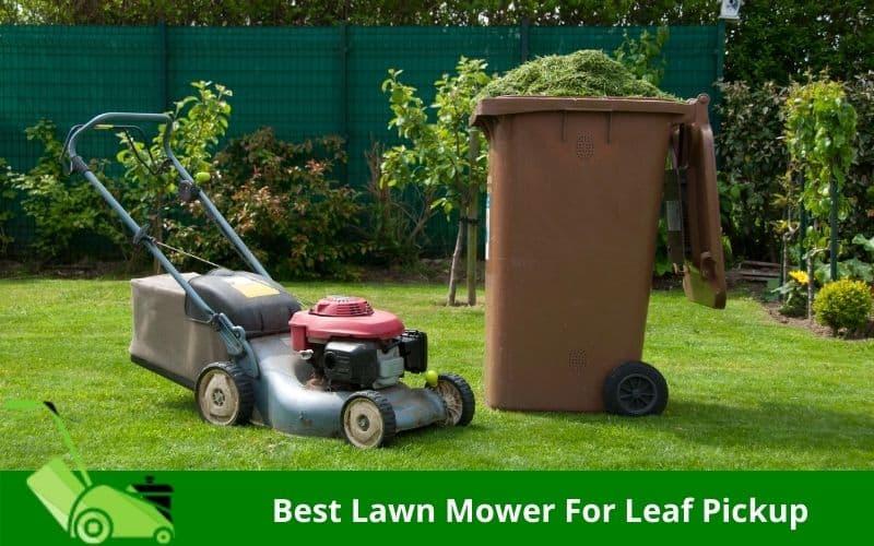 Best Lawn Mower For Leaf Pickup