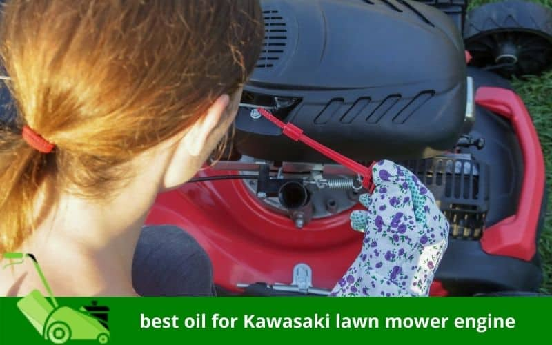 best oil for Kawasaki lawn mower engine