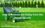 How to Remove Pulley from the Mower Spindle
