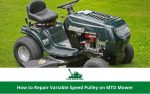 How to Repair Variable Speed Pulley on MTD Mower
