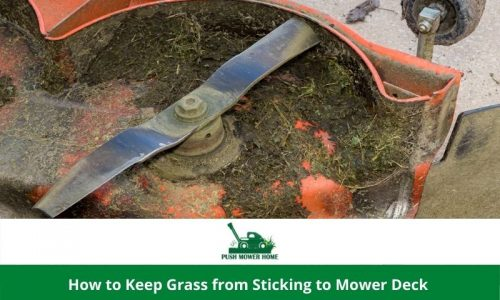 How to Keep Grass from Sticking to Mower Deck